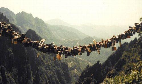 Candados en Huanghsan