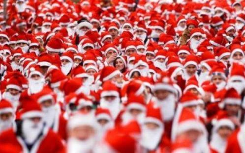 Maraton de Papa Noel en Amersfoort