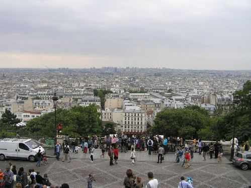 Sagrado Corazon de Paris, vistas